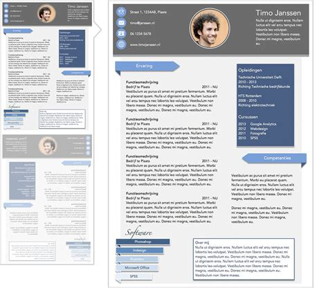 Sjabloon Modern Cv Gratis Word Cv Sjabloon Lifebrander