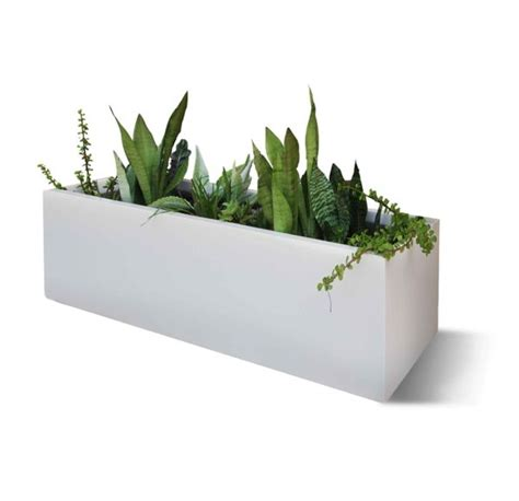 elegant flower box beautifies  outdoor area planters