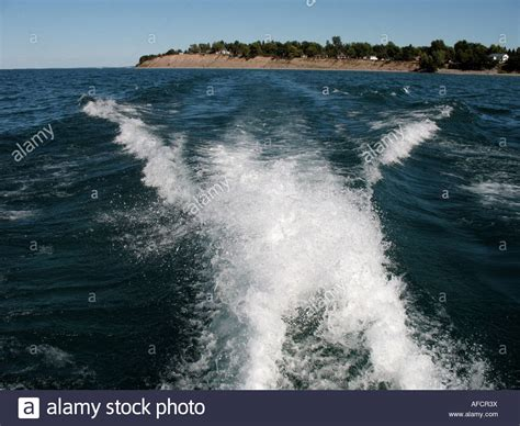 speed boat wake wake from speedboat stock photo royalty free image