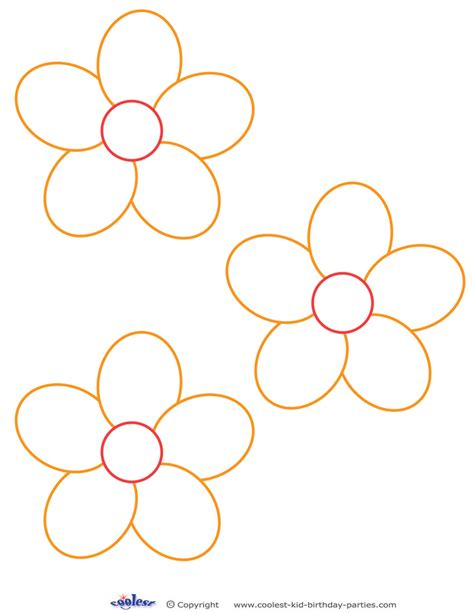 small template to print small flower template pictures to pin on pinsdaddy