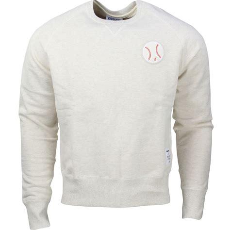 Sweater Reebok Reebok X Kitsune Baseball Crew Neck Sweater White