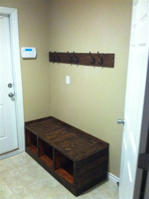 diy coat rack bench pallet bench and coat rack pallet art pinterest