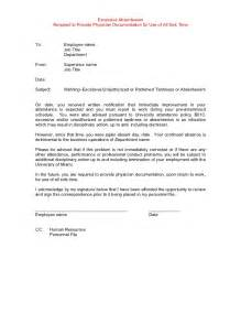 Absenteeism Policy Template by Template Disciplinary Lettersexles Gables