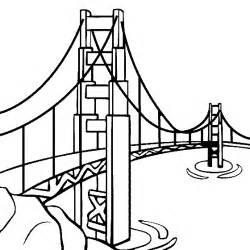Golden Gate Bridge Coloring Page sketch template
