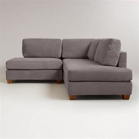 wyatt sectional sofa charcoal wyatt sectional sofa world market
