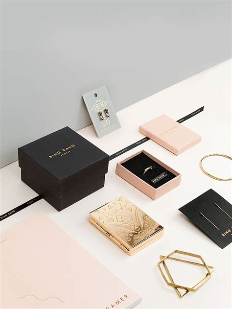 home accessories design brand bing bang jewelry branding and packaging