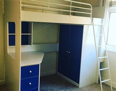 High Sleepers With Wardrobe by High Sleeper Bed With Desk And Wardrobe Assembly Worthing