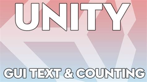 unity tutorial text unity tutorials beginner 14 gui text and counting
