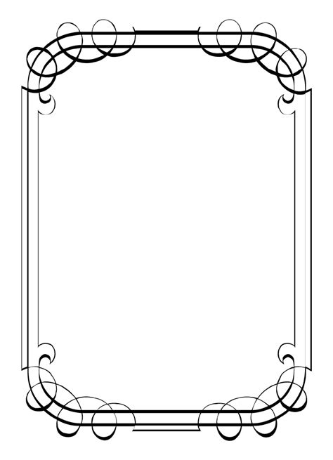 free printable picture frame templates printable borders clipart best