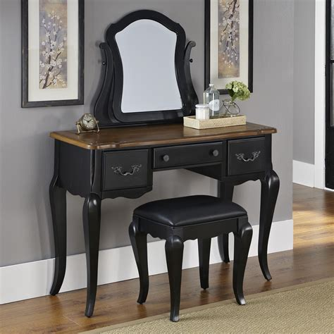 black bedroom vanities home styles the french countryside vanity and mirror oak