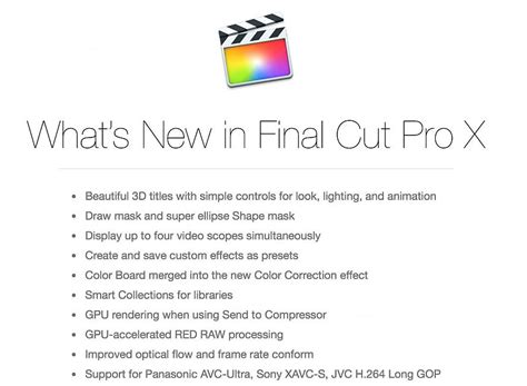 final cut pro update download major update to apple s final cut pro x compressor and motion