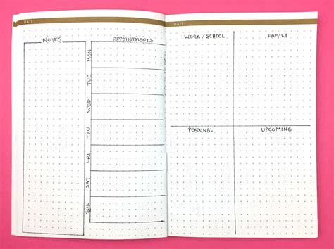 office layout journal 10 weekly bullet journal layouts to kickstart your