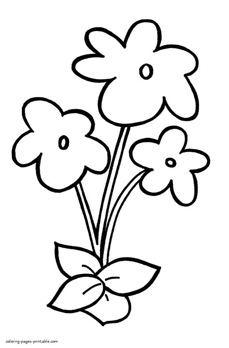 coloring pictures of flowers for preschoolers flower coloring sheets for kindergarten the art jinni