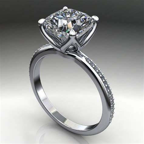 charlize ring 2 5 carat cushion cut forever one