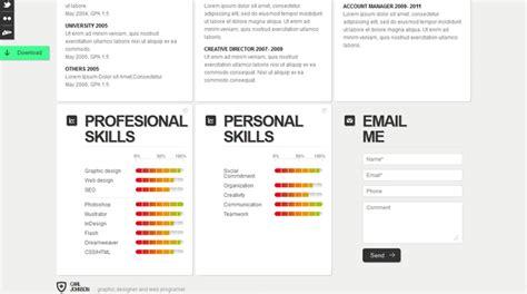 skills portfolio template creative web html resume template web html resume