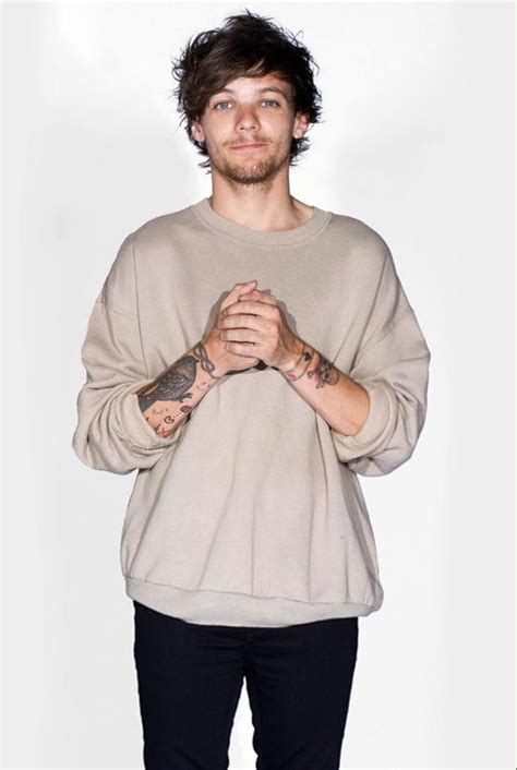 baby best boy louis tomlinson one direction photoshoot post smile sweater tattoos