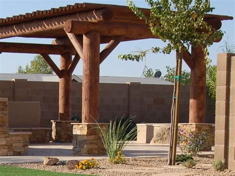 Log Patio by Pergola And Patio Cover Az Photo Gallery