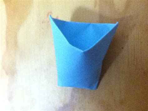 How To Make A Cup With Paper - how to make a paper cup origami cup step by step