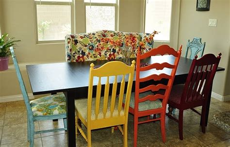 dining table with different chairs collections