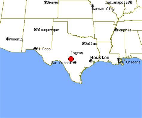 ingram texas map ingram profile ingram tx population crime map