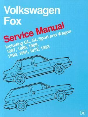 front cover vw volkswagen fox service manual 1987 1993 bentley publishers repair volkswagen fox service manual 1987 1988 1989 1990 1991 1992 1993 including gl gl sport