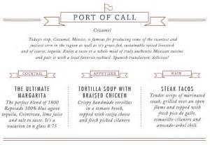 carnival cruise american table menu punchaos