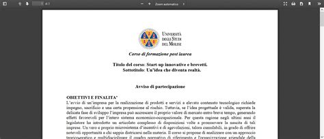ufficio brevetti napoli corso formazione post laurea startup innovative brevetti