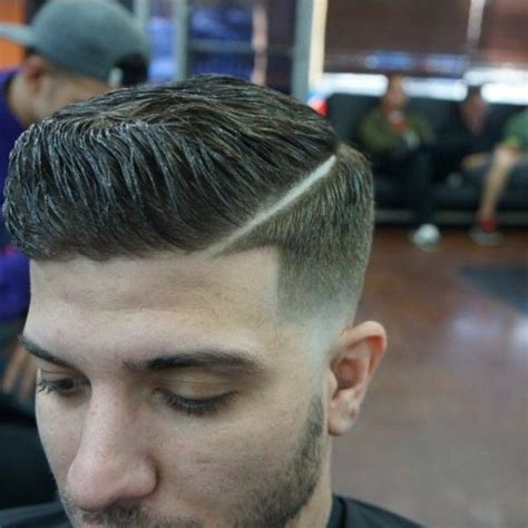 shaved part haircut men shaved part barber shop pinterest