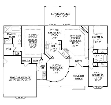 one level house floor plans one level house plans with no basement unique e level