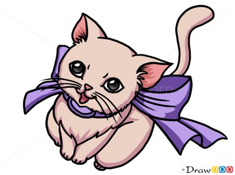 Anime Kitten by How To Draw Anime Kitten Cats And Kittens