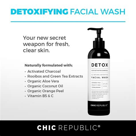 Chic Republic Detox Wash all activated charcoal cleanser chic