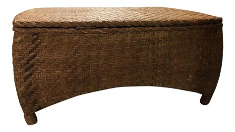 center table with storage wicker center table trunk with storage chairish