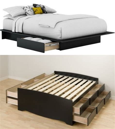 queen storage bed frame make your own queen size platform bed discover