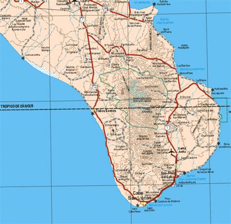 map of baja california baja sur map
