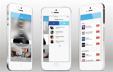 iphone app design templates news feed ios app template