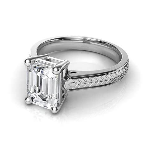 Wedding Rings Emerald Cut by Emerald Cut Wedding Ring Buyretina Us