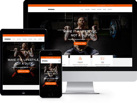 free bootstrap templates for gym render free html5 bootstrap template freehtml5 co