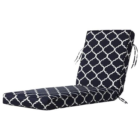 black and white chaise lounge cushions home decorators collection landview navy outdoor chaise