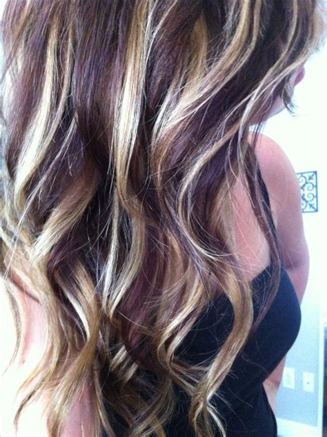 hair color pictures blonde purple lowlights 113 best highlights and lowlights images on pinterest
