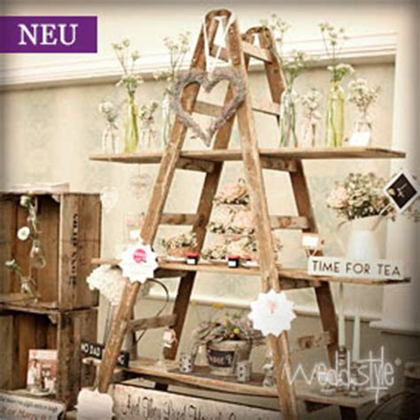 etagere vintage holz vintage holzleiter wedding ideas wedding