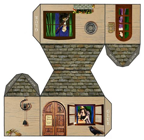 House Papercraft - tarot papercraft house open weekends ring bell