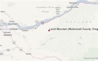 multnomah county map oregon larch mountain multnomah county oregon