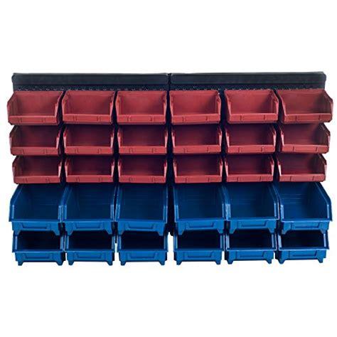 Plastic Tool Rack by Plastic Rack Wall Mounted Box 30 Drawers Storage Organizer Rack Garage Tools Bin Ebay
