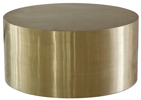 cordova bronze bronze metal drum coffee table wh f1553