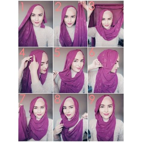tutorial hijab turban pashmina simple 156 best images about hijab tutorial on pinterest