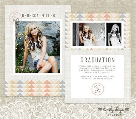 graduation announcements templates for photographers senior graduation announcement template high school