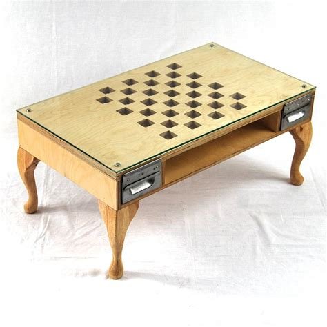 Chess Coffee Table with Cut Out Chess Coffee Table By Tilt Originals Notonthehighstreet