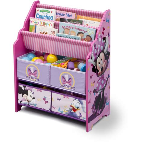 toy storage bookcase with tubs minnie mouse bookcase best home design 2018