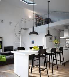 Kitchen Dining Lighting D Modern Monochrome Green Apartment Kitchen Dining Industrial Lighting Interior Design