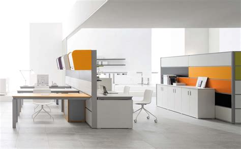 stylish white energy efficient modern office furniture